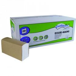 3750 Essuie-mains microgaufrés pliés en Z blanc 2x19g/m² - 2 plis - 22x23cm - H254M