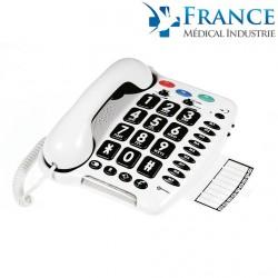 TÉLÉPHONE FILAIRE Grosses touches GEEMARC CL100 Compatible appareil auditif-GEE001