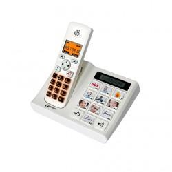 TÉLÉPHONE SANS FIL GEEMARC DECT PHOTO Larges touches Rétro-éclairé Bip-GEE006