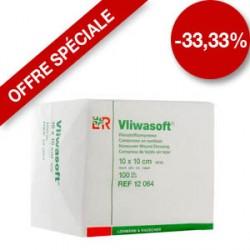 Compresses non tissées Vliwasoft® Dimension  10 x 10 cm Boite de 40 sachets x 2 -  94212