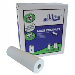 Draps d'examen - Pure ouate 2 plis 2x20g/m² - Carton de 6 rouleaux - 300 formats - 50x35cm - J417LFM