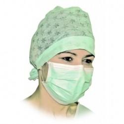 Boite de 50 Masques Respiratoires 3 plis non tissé couleur Blanche - M517