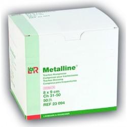 Compresses Metalline® pour trachéotomie Dimension 8 x 9 cm Boite de 50 - 23094