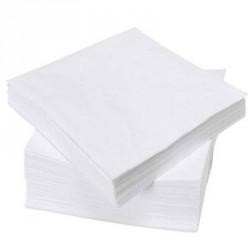 Serviette de table en pure ouate 2x17g/m² - Paquet de 2000 - 2 plis 40x40cm - NH409BL