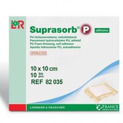 Pansement hydrocellulaire adhésif Suprasorb® P 10x10cm Boite de 10-82035